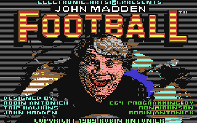 madden88 c64 Top 10 Old School 80s Sports Video Games