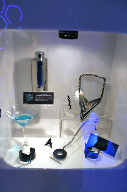 tron jewelry and martini set