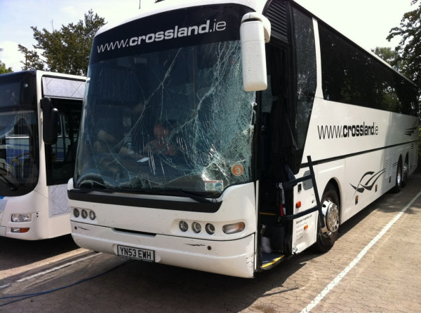 Fozzy Involved in Tour Bus Accident Jericho%20bus