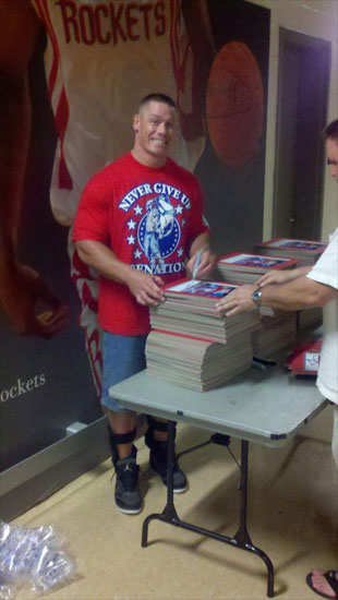 John Cena in Houston, Texas