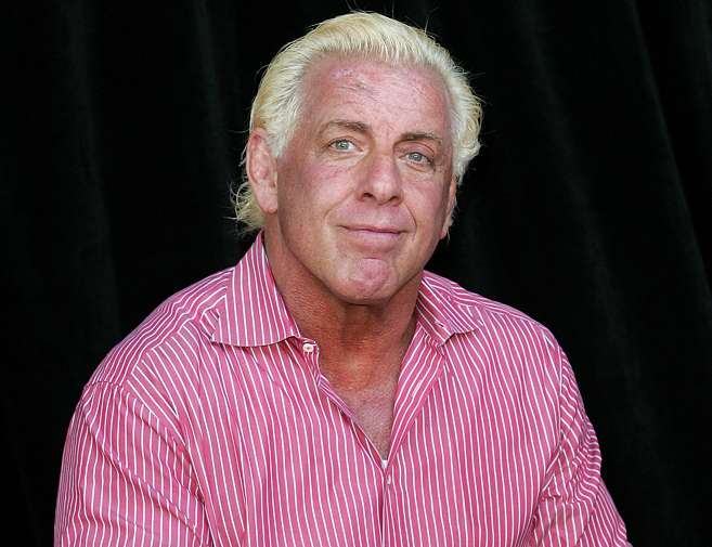 The 69-year old son of father (?) and mother(?), 180 cm tall Ric Flair in 2018 photo